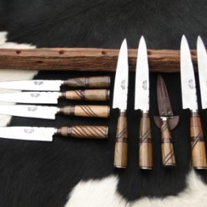 cuchillo madera combinada galloneada
