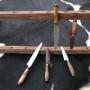 cuchillo madera entera galloneada